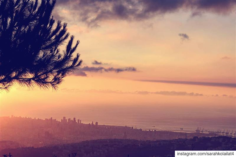 """Peace i seeing a sunset and knowing who to thank "" ""Picoftheday lebanon..."